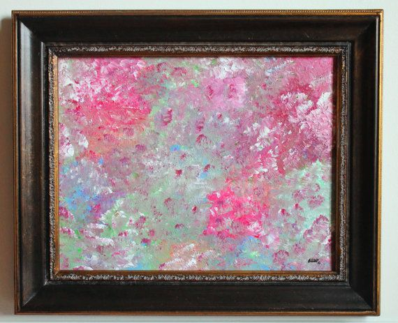 First Love Abstract Impressionism Painting by lotsahappy on Etsy, $94.95  Must have this for my daughter's room!