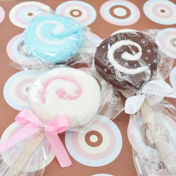 Lollipop Towel Favors Shower Pinterest Baby Shower Favors