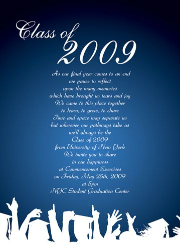 sample graduation invite wording | graduation party ideas | pinterest,