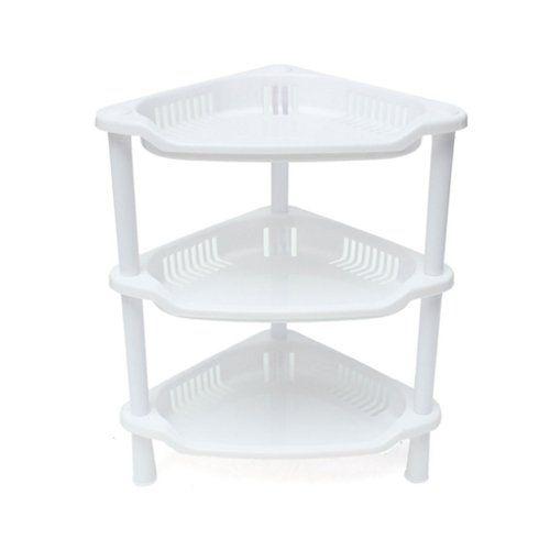 Sodial R 3 Tier Plastic Corner Shelf Organizer Cabinet Bathroom Kitchen Sundries Storage Rack White Corner Storage Cabinet Corner Storage Bathroom Storage Cabinet
