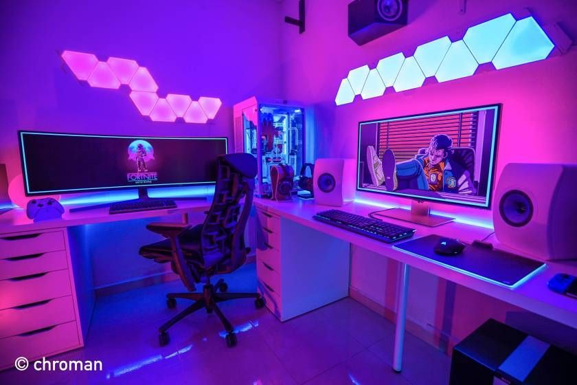 This Crazy Gaming Setup Is Worth Nearly 100 000 Minimalsetups Gaming Room Setup Video Game Room Design Computer Gaming Room