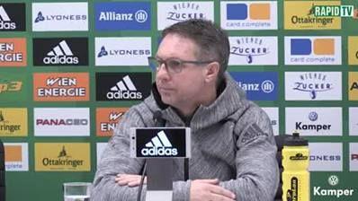 Tobias Knoflach, Trainer Damir Canadi und GF Christoph Peschek stellen sich den Fragen der Presse!