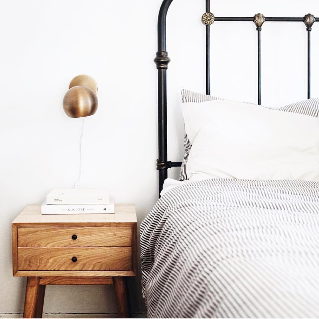 Master bedroom shelves above the bed  Are you a minimalist Ever want to throw everything out and start