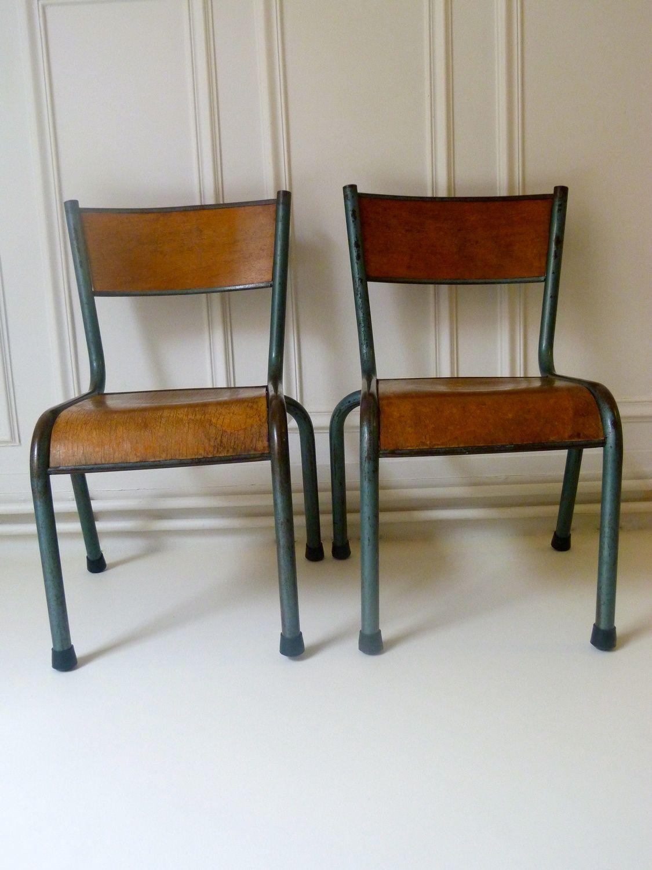 chaise d ecolier mullca 510 ann es 50 inspiration d co vintage pinterest coli re ann es. Black Bedroom Furniture Sets. Home Design Ideas