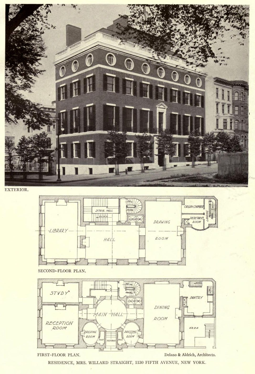 Archi Maps View And Floor Plans Of The Straight Residence Architectural Floor Plans Vintage House Plans Architecture Old