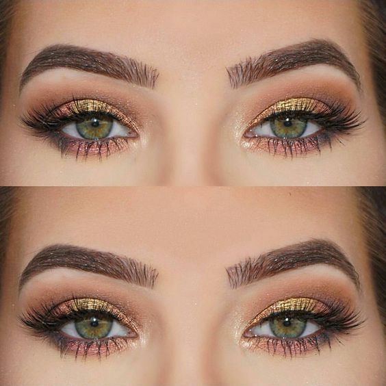 beautiful green eyes makeup with firma allure lashes ��