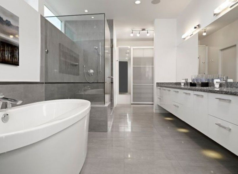 Bathroom Modern Grey Bathroom Elegant Floor Tiles Marble