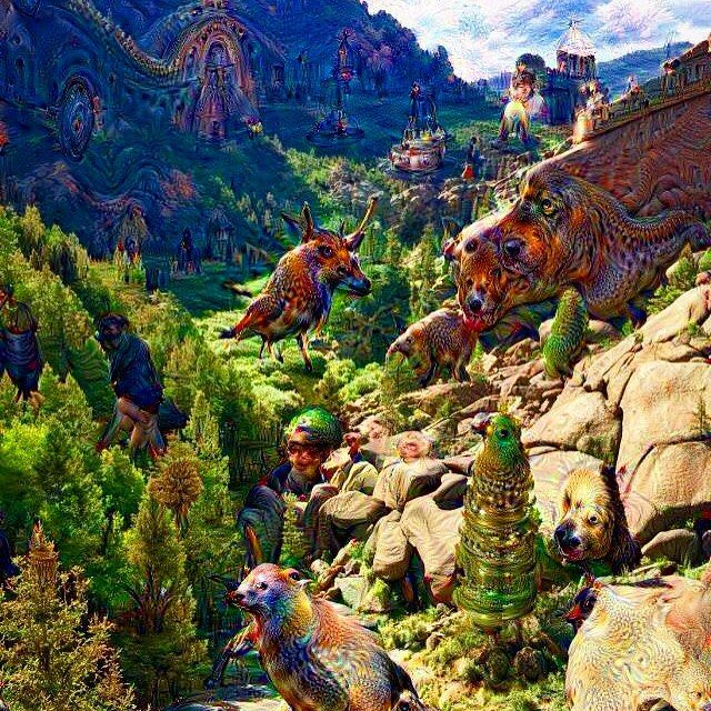 The Valley of Boulders or Valley of Grotesque Animals...................... If you #DeepDream nature, you will find yourself #tripping in it. #Neuralnetwork #Neuralnetworks #animals