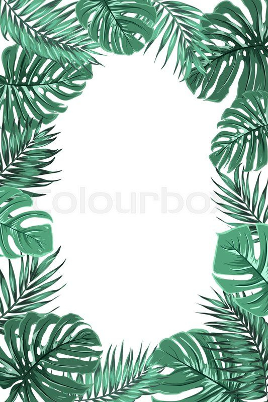 Jungle Border Design Tree wallpaper iphone, Leaves