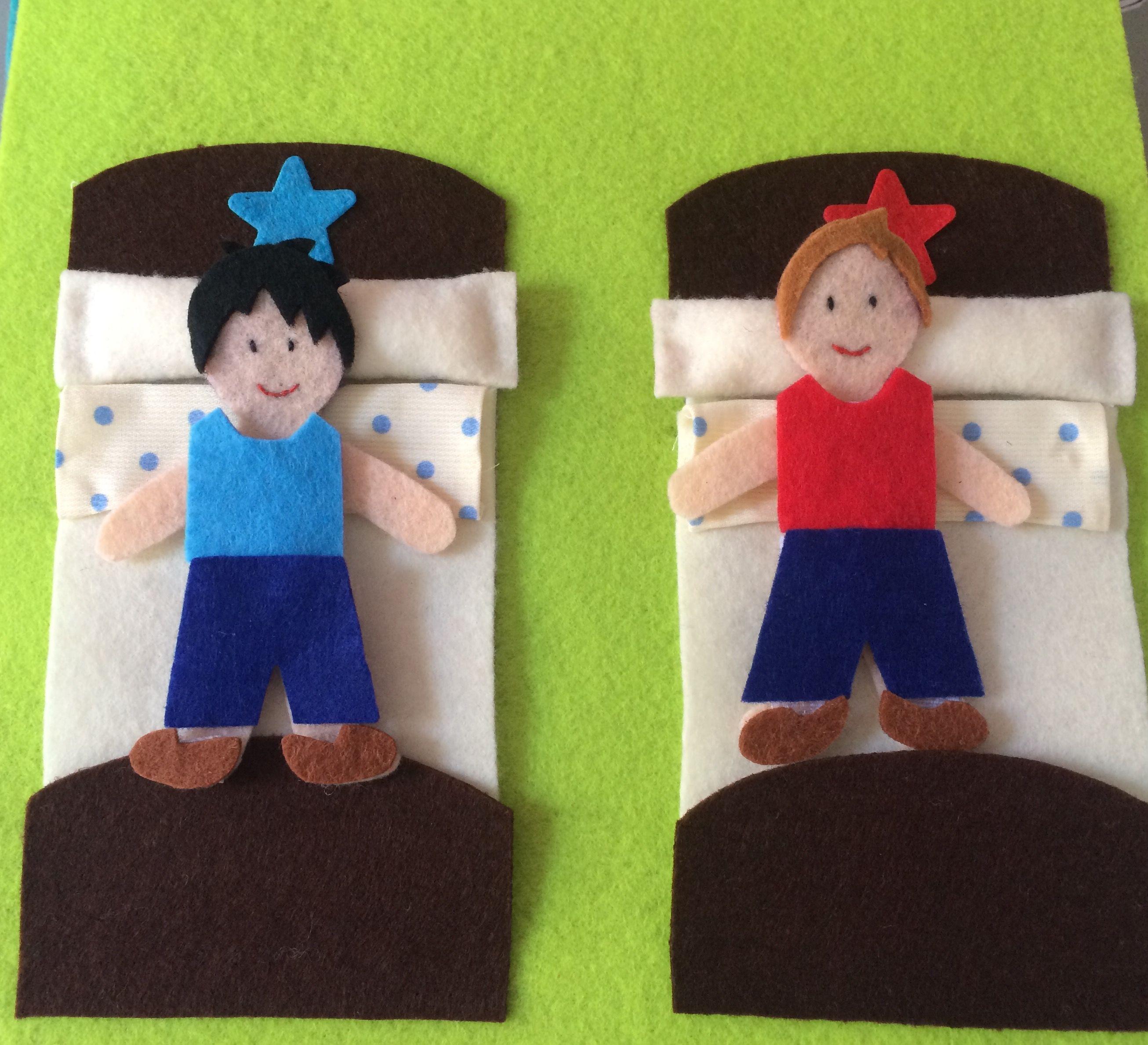 Hora de irse a la cama.Quietbook/Libro sensorial by Arte Sano KIDS. Juguetes sensoriales y educativos hechos a mano. Visita nuestra página de Facebook: Arte Sano KIDS. Instagram: @artesanokids