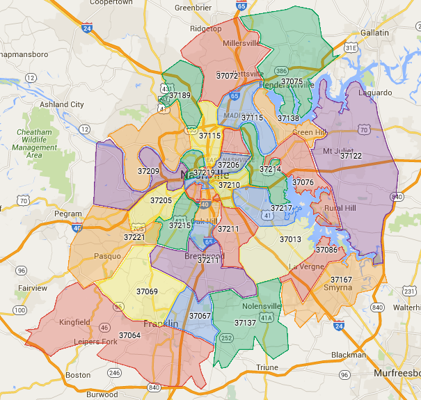 List of all nashville zip codes to help you find homes for sale in list of all nashville zip codes to help you find homes for sale in the areas sciox Gallery
