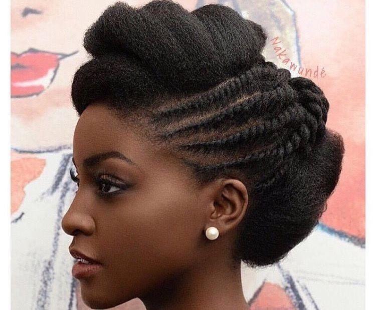 Natural Hair Updo Twists Elegant Hairstyles Beautiful Woman