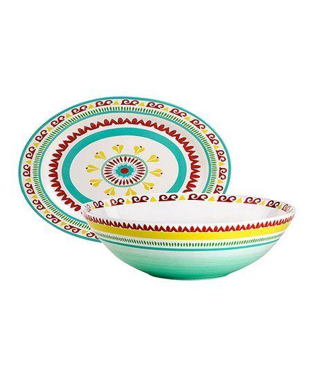 Euro Ceramica Alecante Oval Platter & Serving Bowl   zulily