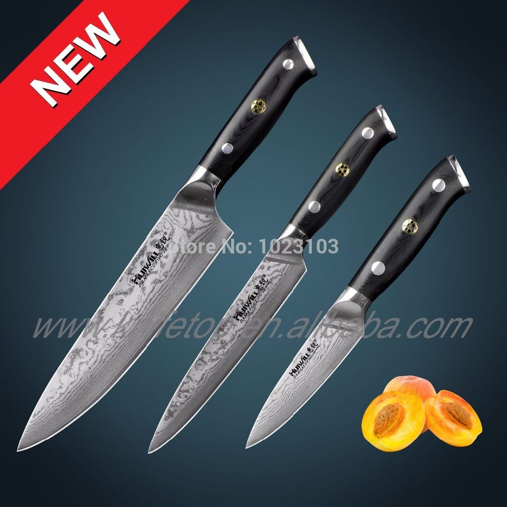Reviews 67 Layers 3 Pcs Japanese Vg10 Damascus Stainless Steel Interesting Kitchen Knives Reviews Inspiration