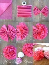 Wedding time 2 Peony flowers in napkins  From one thing to another