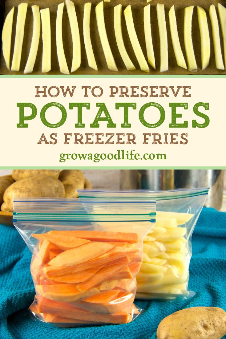 How to Preserve Potatoes as Freezer Fries