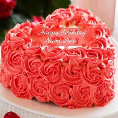 Beautiful Rose Birthday Cake Pictures With Name Edit Write Name On