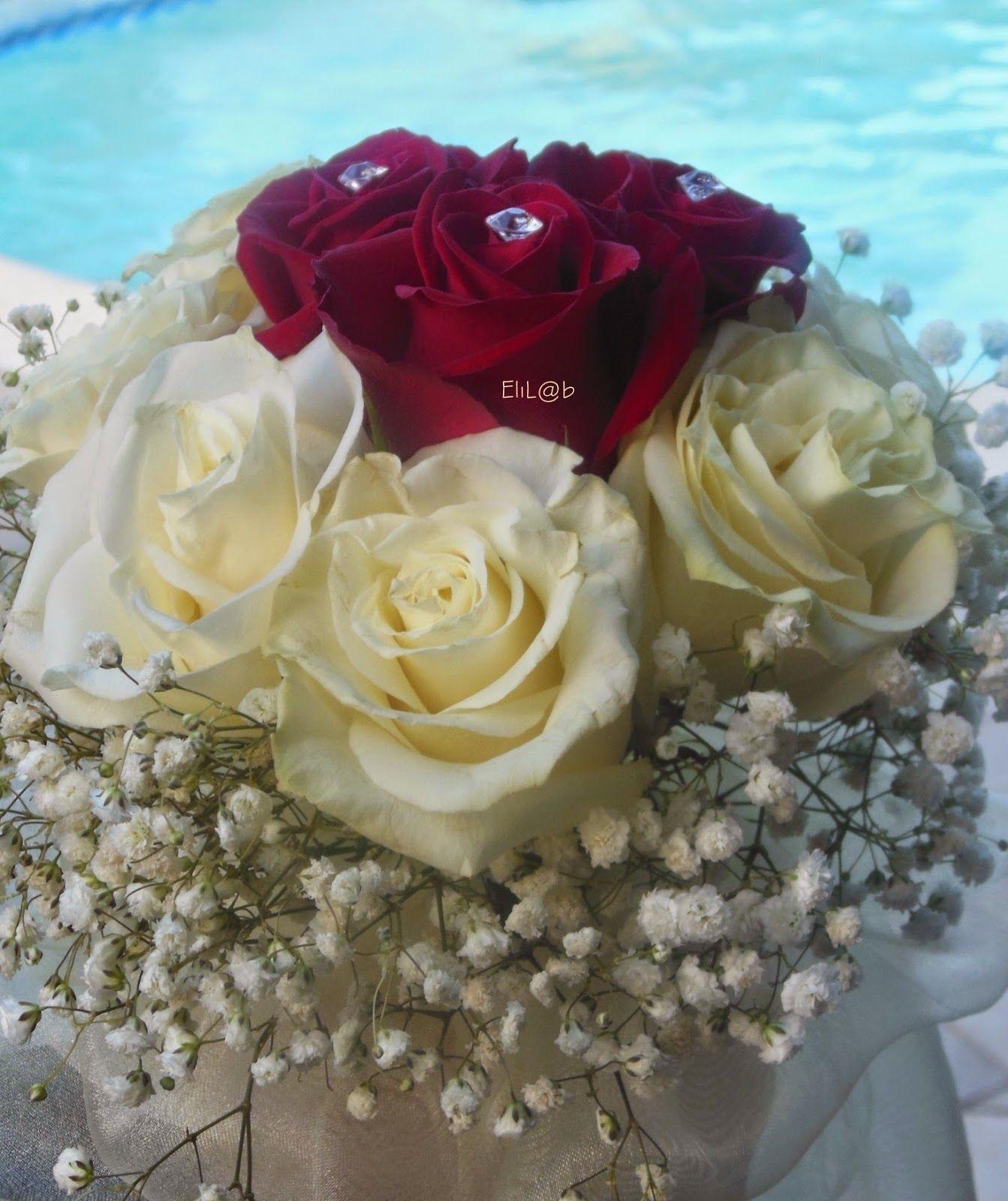 Bouquet Sposa Rose Bianche E Rosse.Pin Su Arreglos Florales