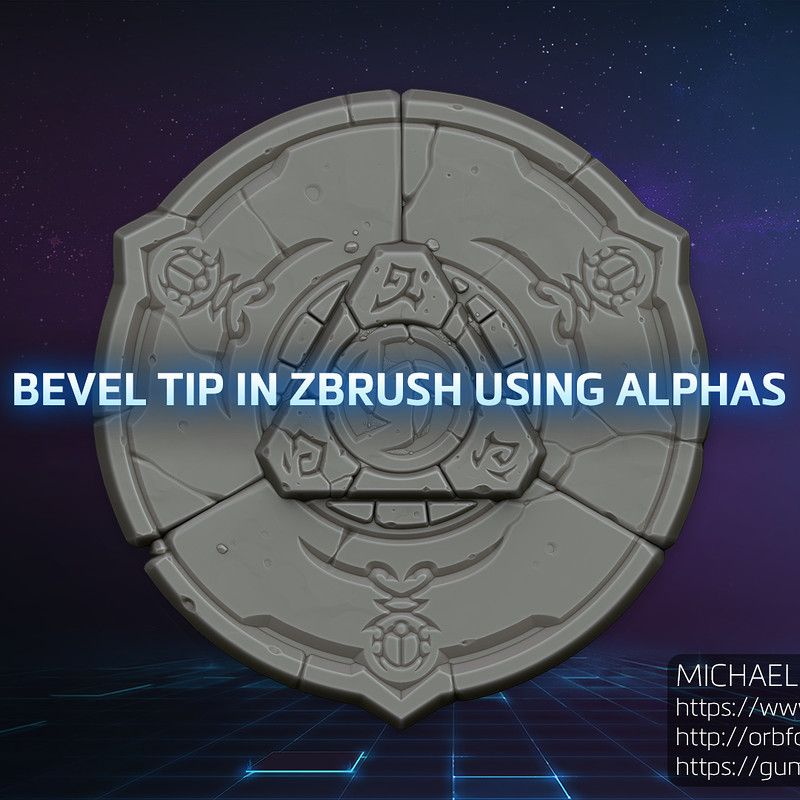 Orb (Michael Vicente) - Bevel Tip in ZBrush using Alphas