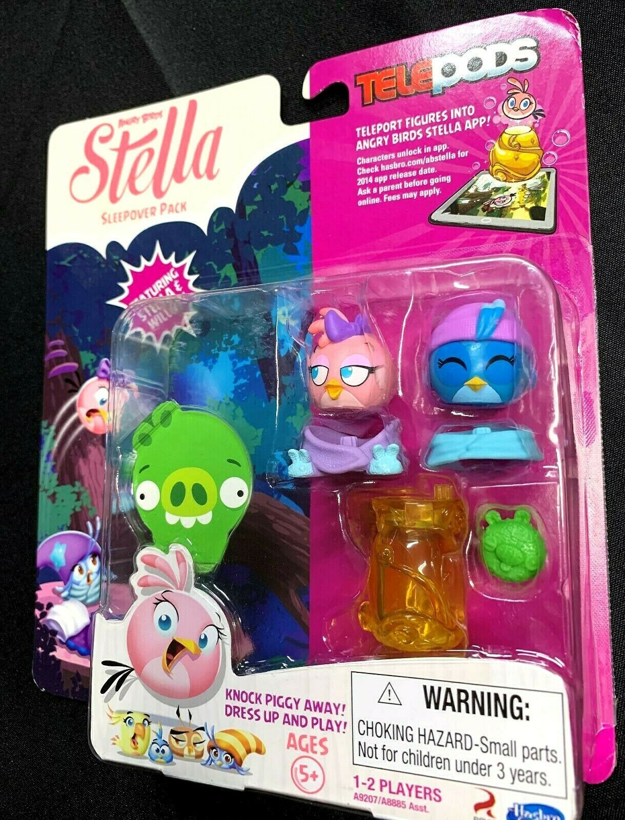 New Hasbro Angry Birds Telepods Stella Willow Sleepover Pack