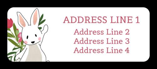 Easter Address Label Template Address Label Template Label Templates Easter Printables Free