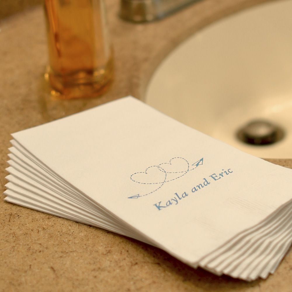 Brilliant Wedding Hand Towels Personalized 3 Ply Paper Bridal Download Free Architecture Designs Viewormadebymaigaardcom