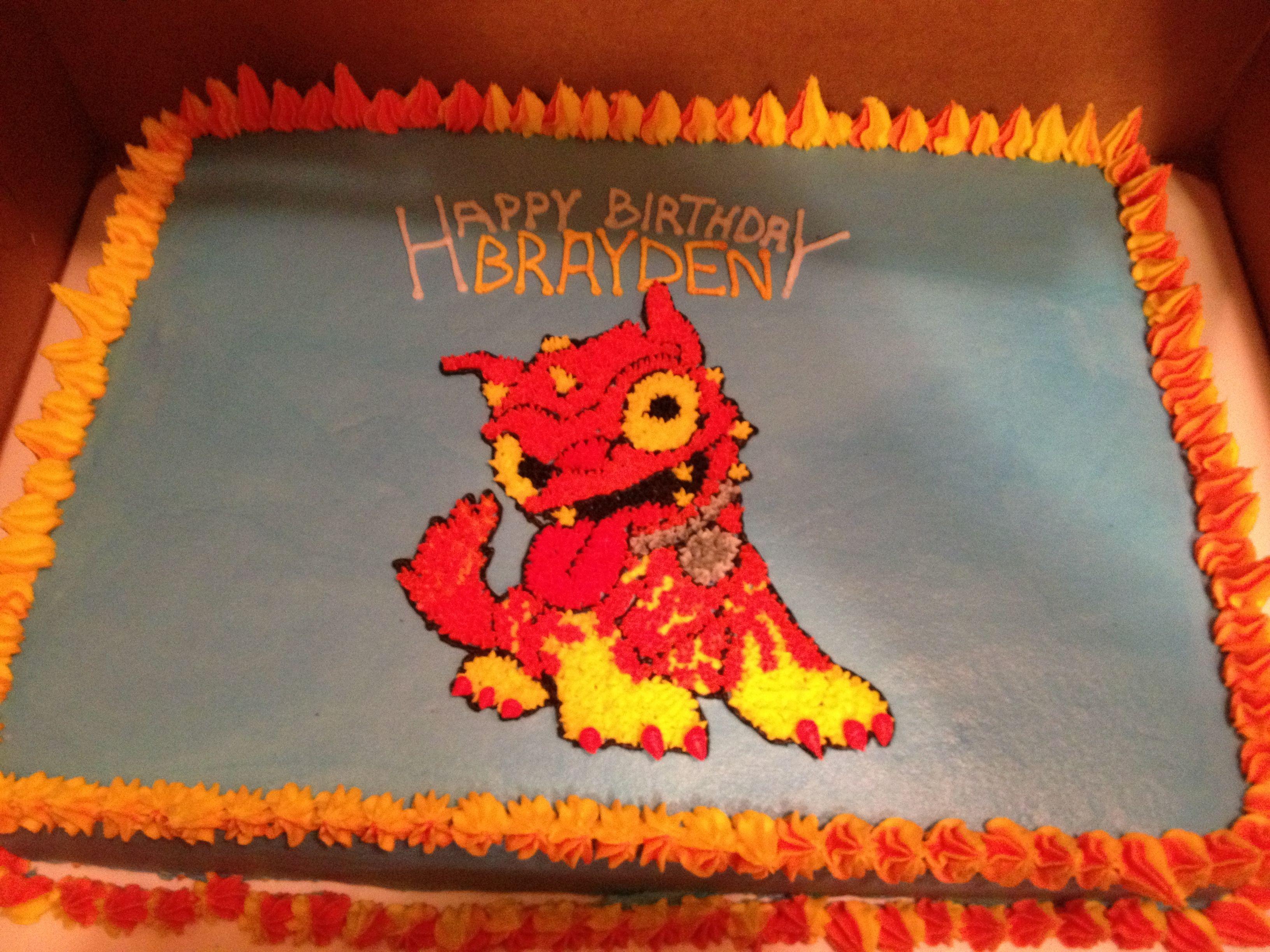 Skylanders HotDog birthday cake for my sons 7th birthday Christie