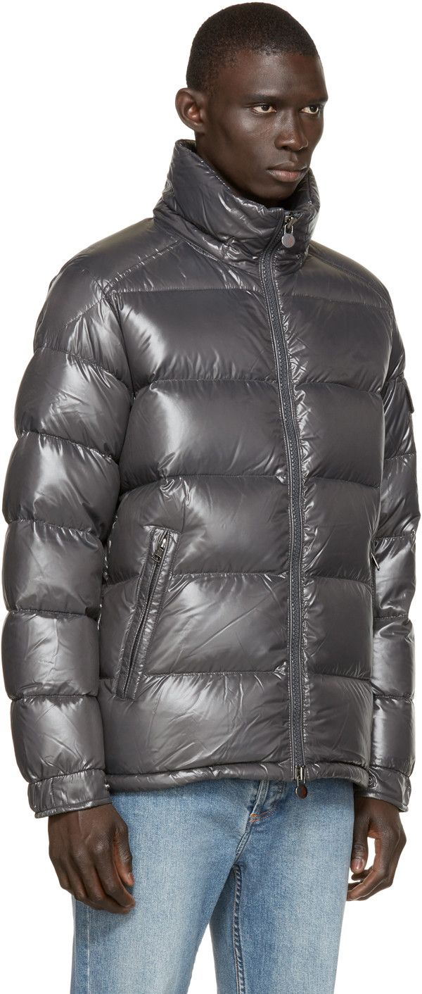 Moncler Charcoal Quilted Down Maya Jacket Moncler