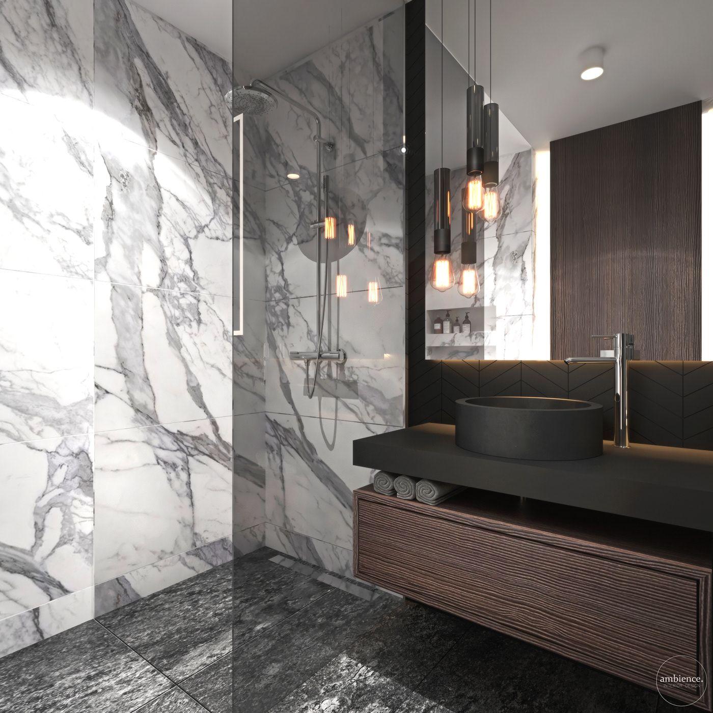 Photo of Dark bathroom with charakter