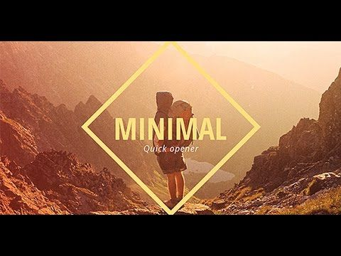 Minimal Opener Slideshow After Effects Template Slideshow - Adobe after effects slideshow templates