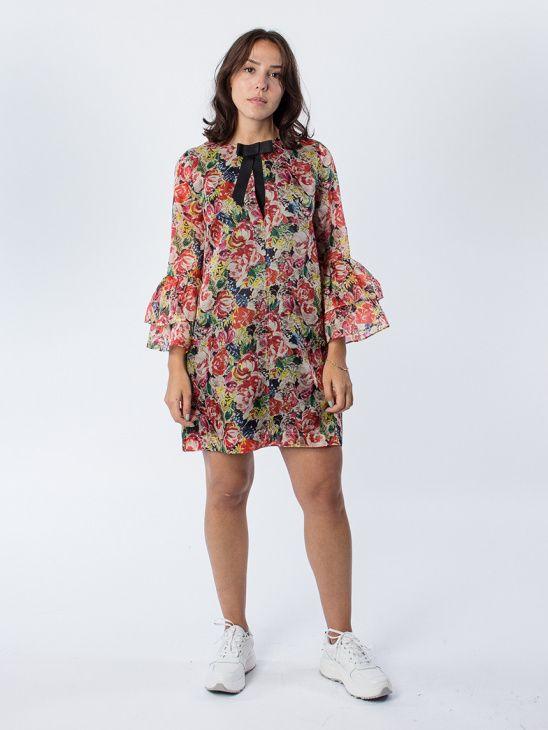 83908bf8 Ganni Seneca Silk Multicolour Dress | bistidas | Dresses, Fashion ...