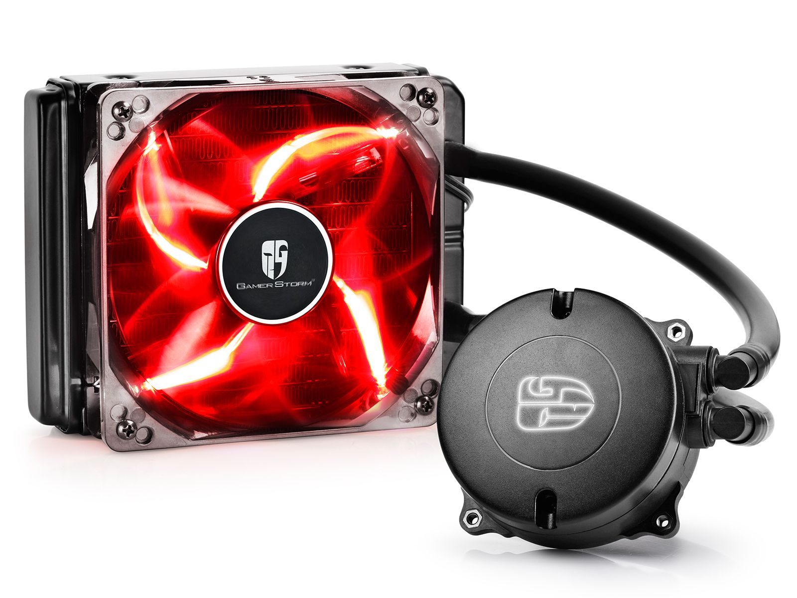 Deepcool Maelstrom 120t Closed Loop Liquid Cooling With Images Red Led Fan Price Led