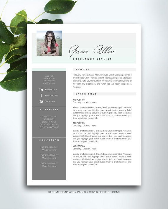 Resume Template 3 page \/ CV Template Cover by FortunelleResumes - can a resume be 2 pages