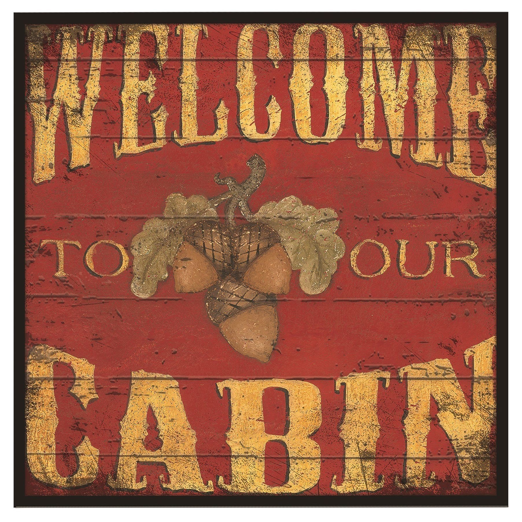 Stupell welcome to our cabin oversized wall hanging multi size