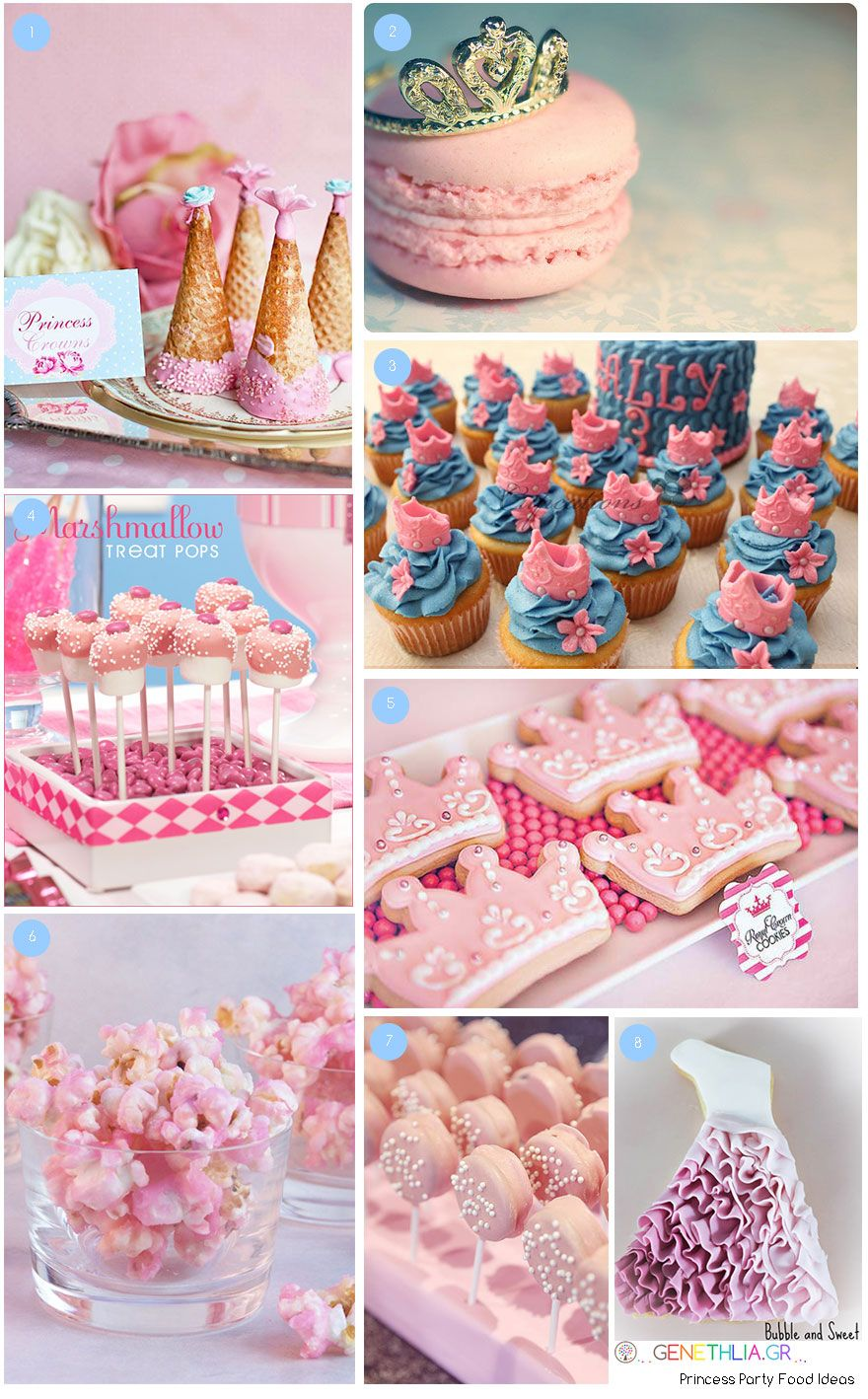 princess party food ideas pink popcorn pink chocolate covered