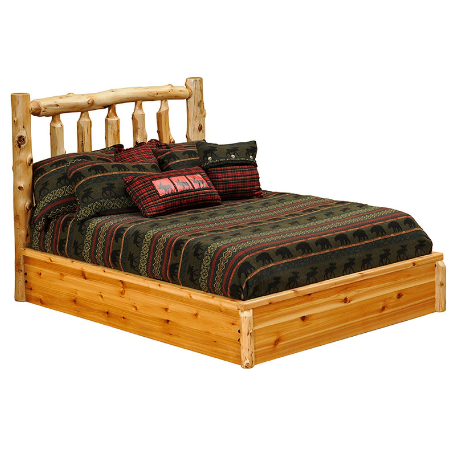 Fireside Lodge Cedar Platform Bed, Size California King