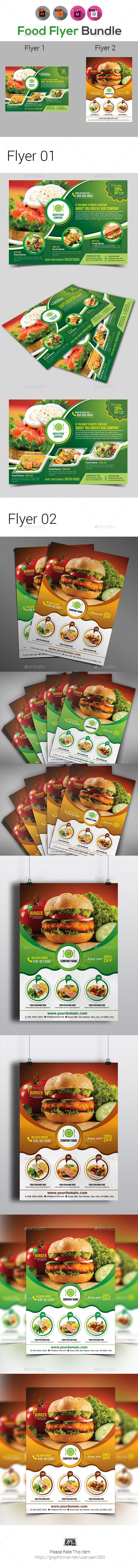 Food Flyer Templates  Flyer Template Adobe Indesign And Adobe