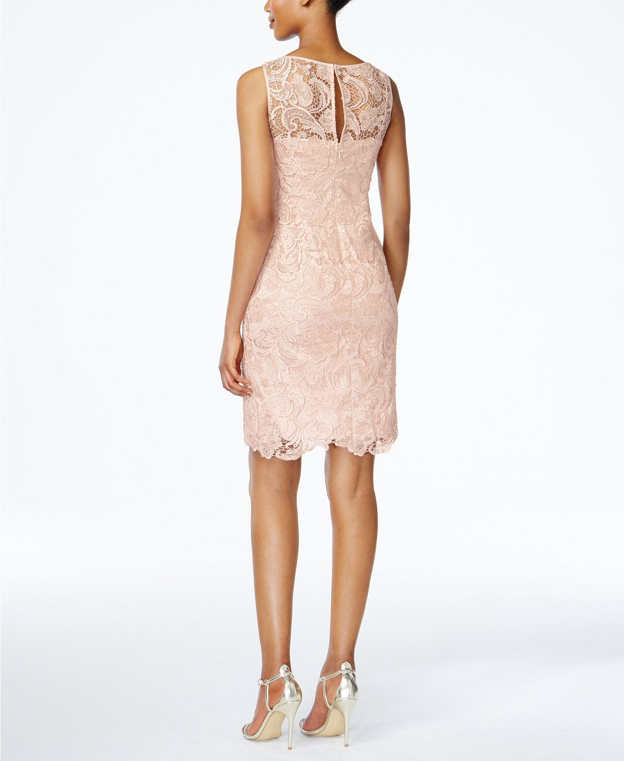 Adrianna Papell Lace Sheath Dress | macys.com | Dress | Pinterest