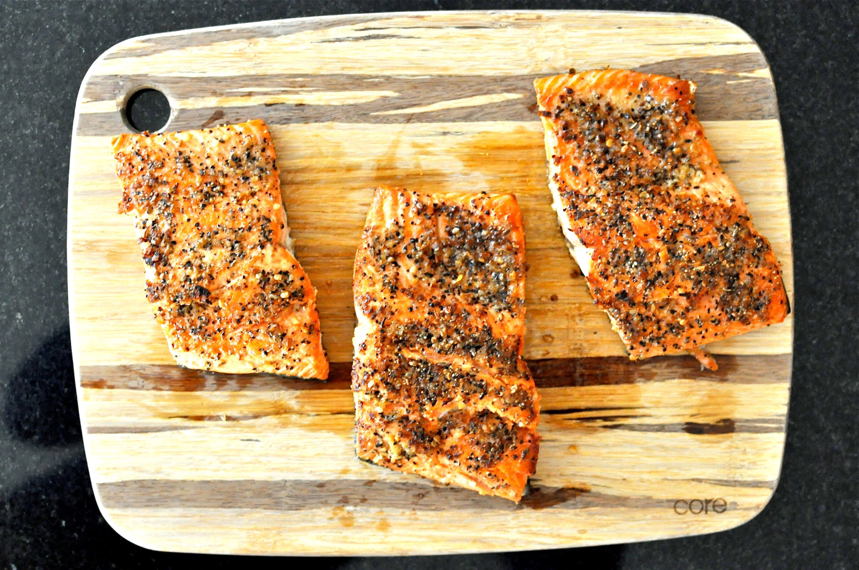 Paleo Peppered Salmon | Fed and Fit