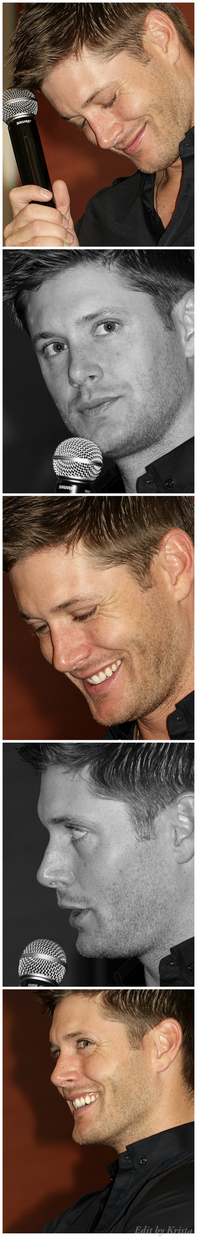 Jensen Ackles and his gorgeous eyelashes at -VanCon 2011 Breakfast Panel edit by Krista
