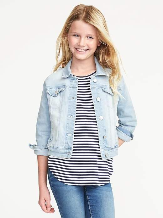 65930537cca Old Navy Light-Wash Denim Jacket for Girls in 2019 | Products ...