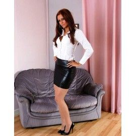 Leather Skirts - IndiFash Leather | ladies in skirts and heels ...