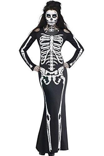NuoReel Women\u0027s Long Skeleton Dress Adult Halloween Costume One Size - party city store costumes