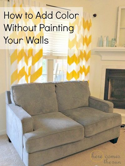 How to Add Color to Your Space Without Painting | Apartment living ...