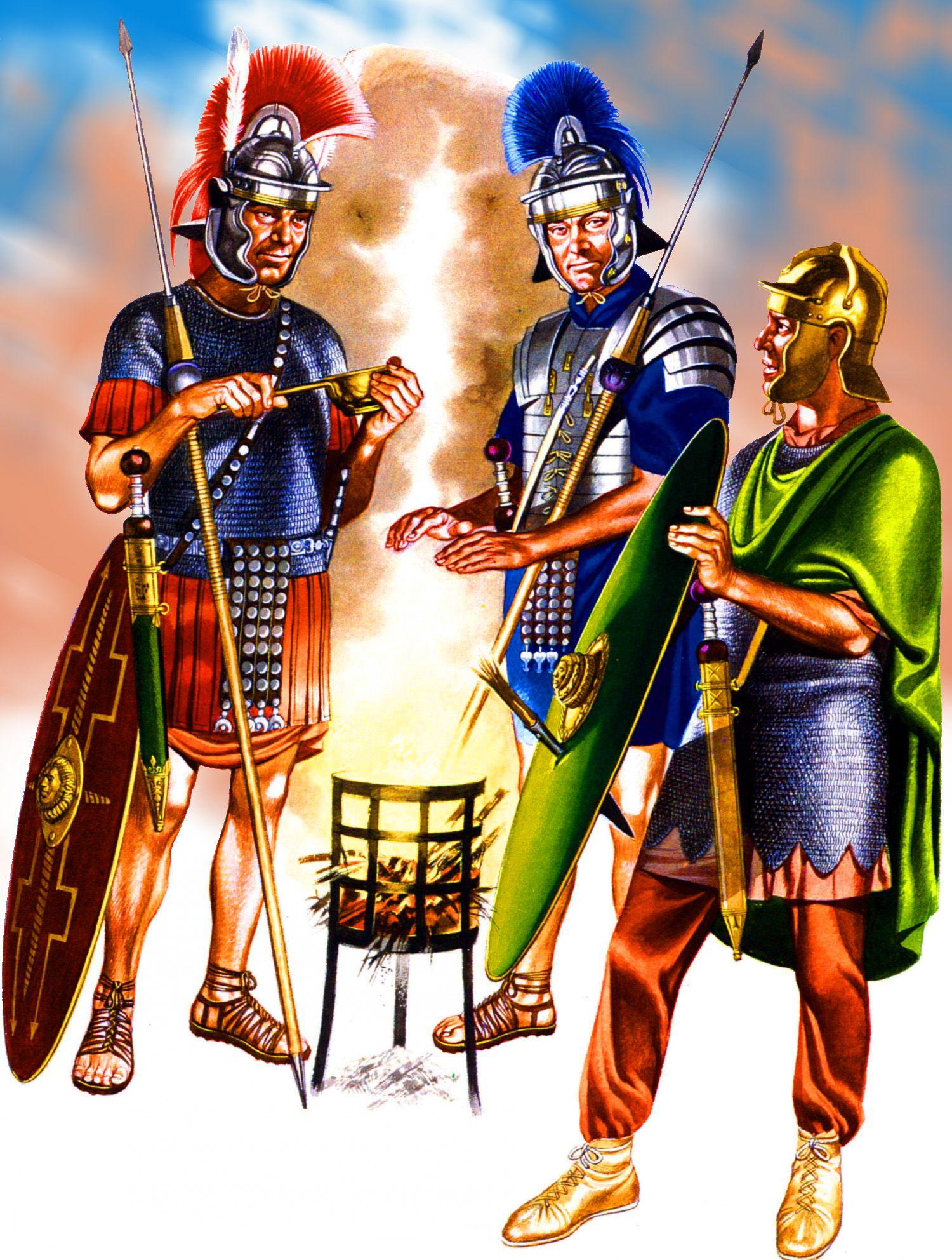 Картинка с воинами разных эпох