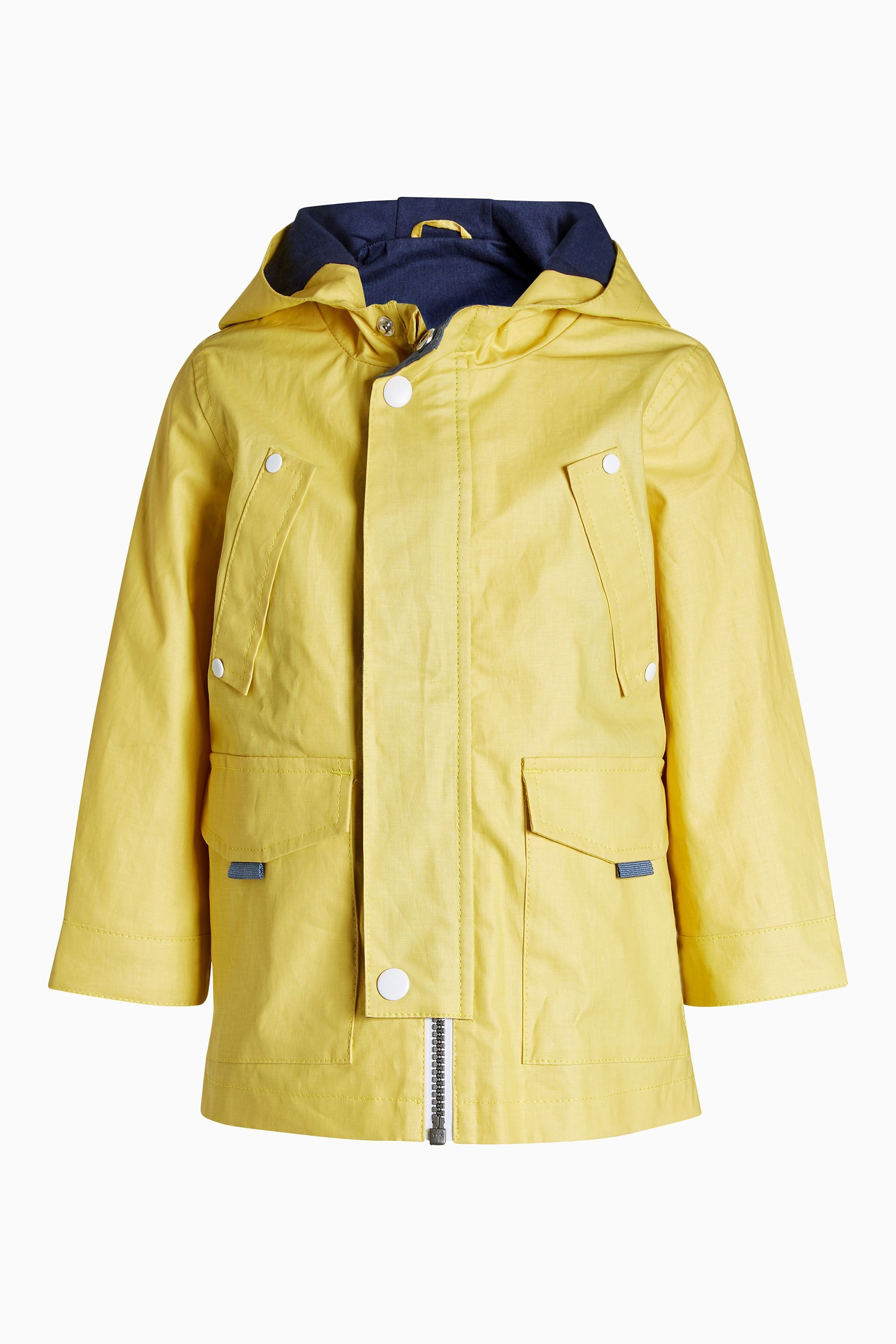 6a81352da Buy Yellow Coated Cotton Anorak (3mths-6yrs) from the Next UK online ...
