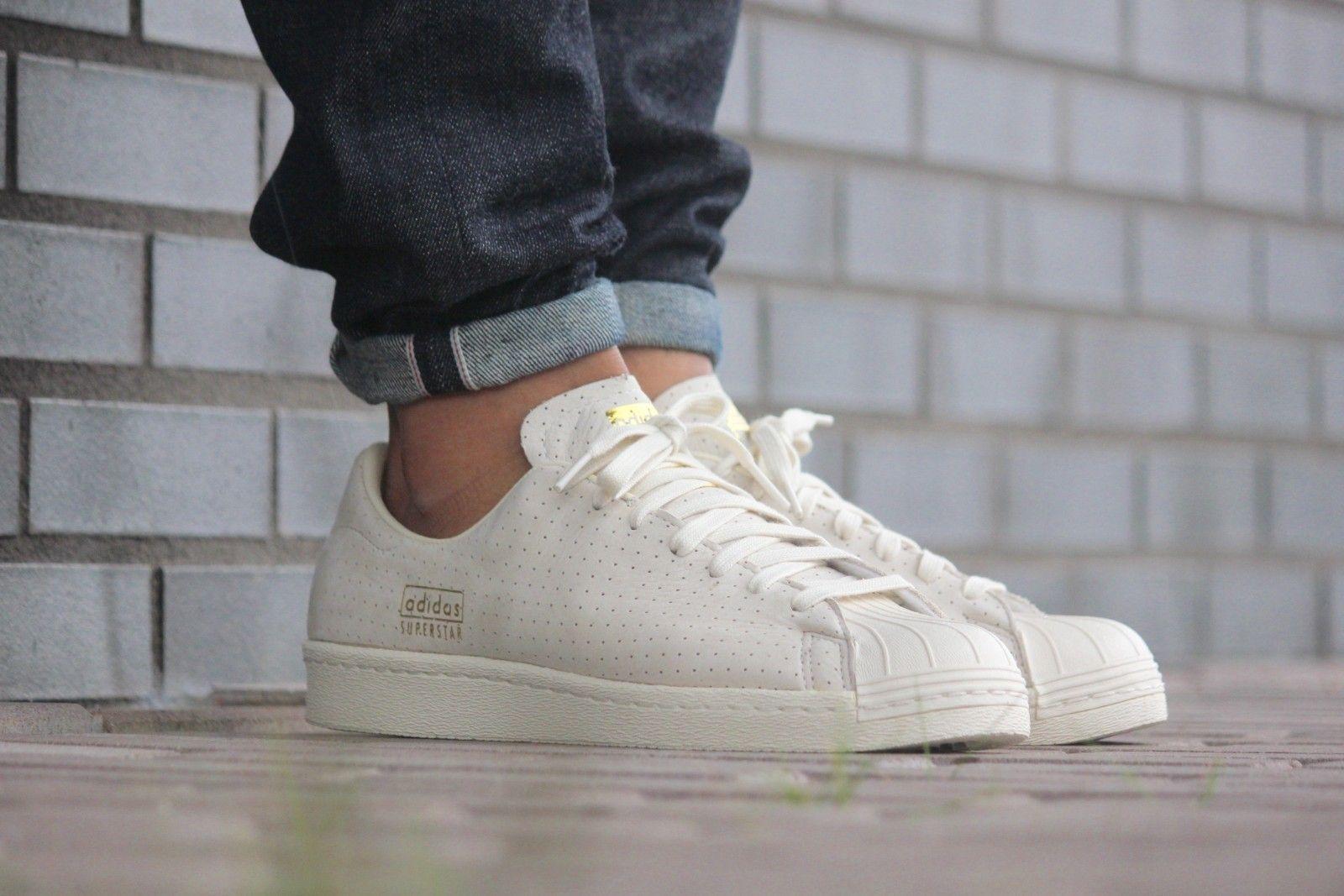 Adidas Superstar 80s Clean Ftwr White/Ftwr White/Gold Metallic 100% Genuine