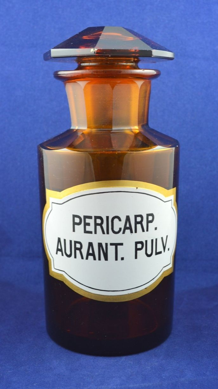 Vintage Antique Medicine Pharmacy Apothecary Bottle Jar Amber Glass Original | eBay