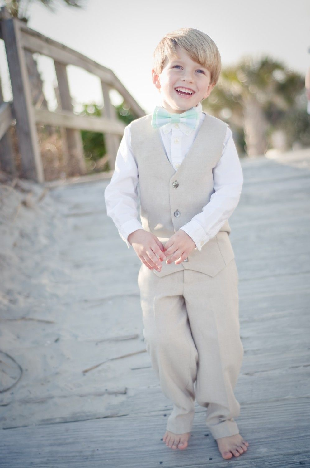 Custom Boys Ring Bearer Outfit--Vest and Pants--Portraits, Church ...