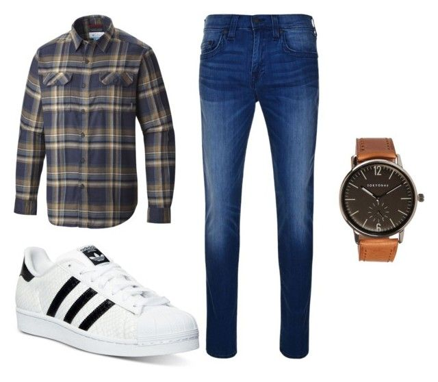 """ZLYC men's fashion"" by hallomall ❤ liked on Polyvore featuring Columbia, adidas, True Religion and TOKYObay"
